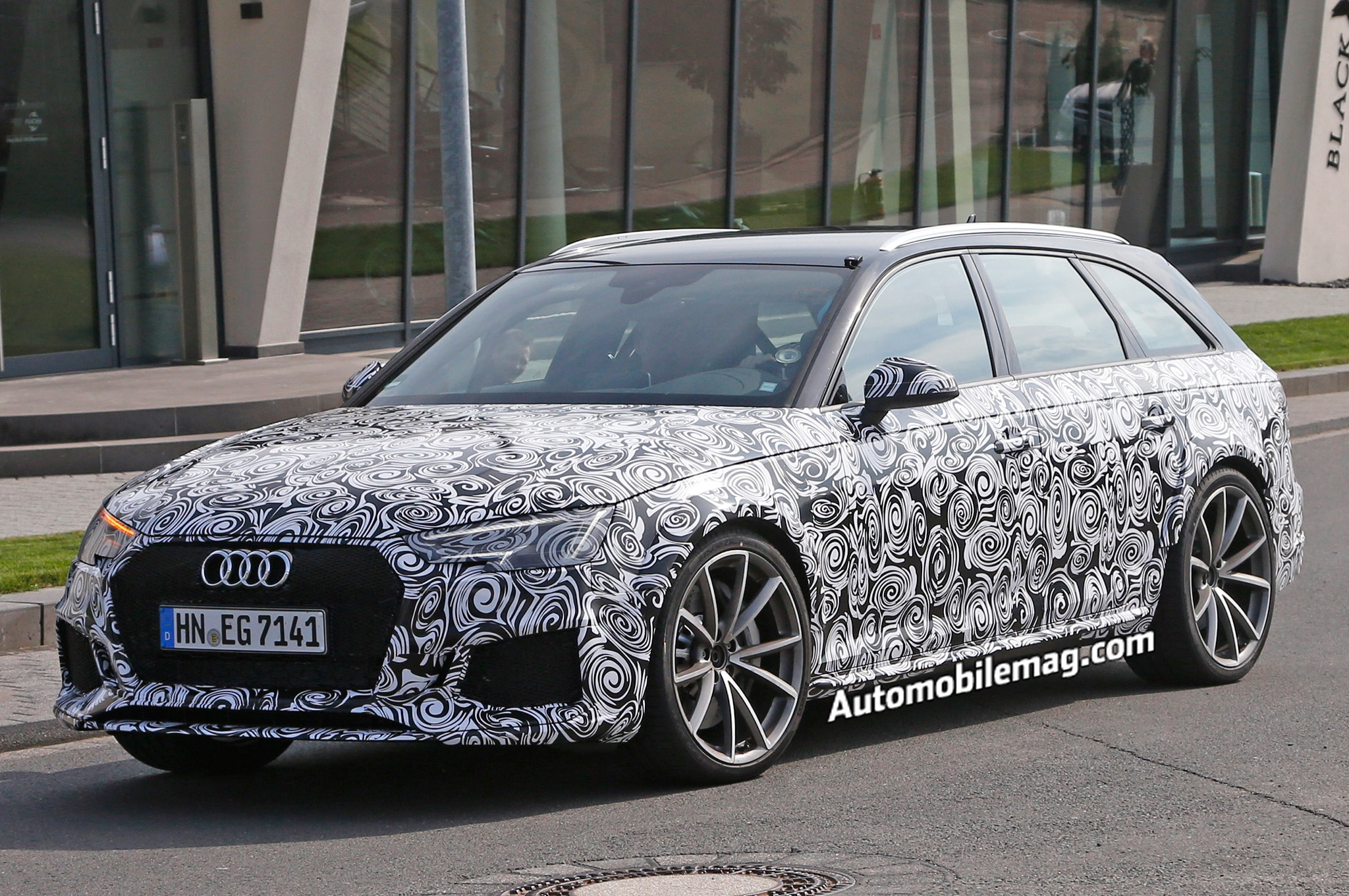 audi rs4 avant spied likely packs electric turbo v 6 automobile magazine. Black Bedroom Furniture Sets. Home Design Ideas