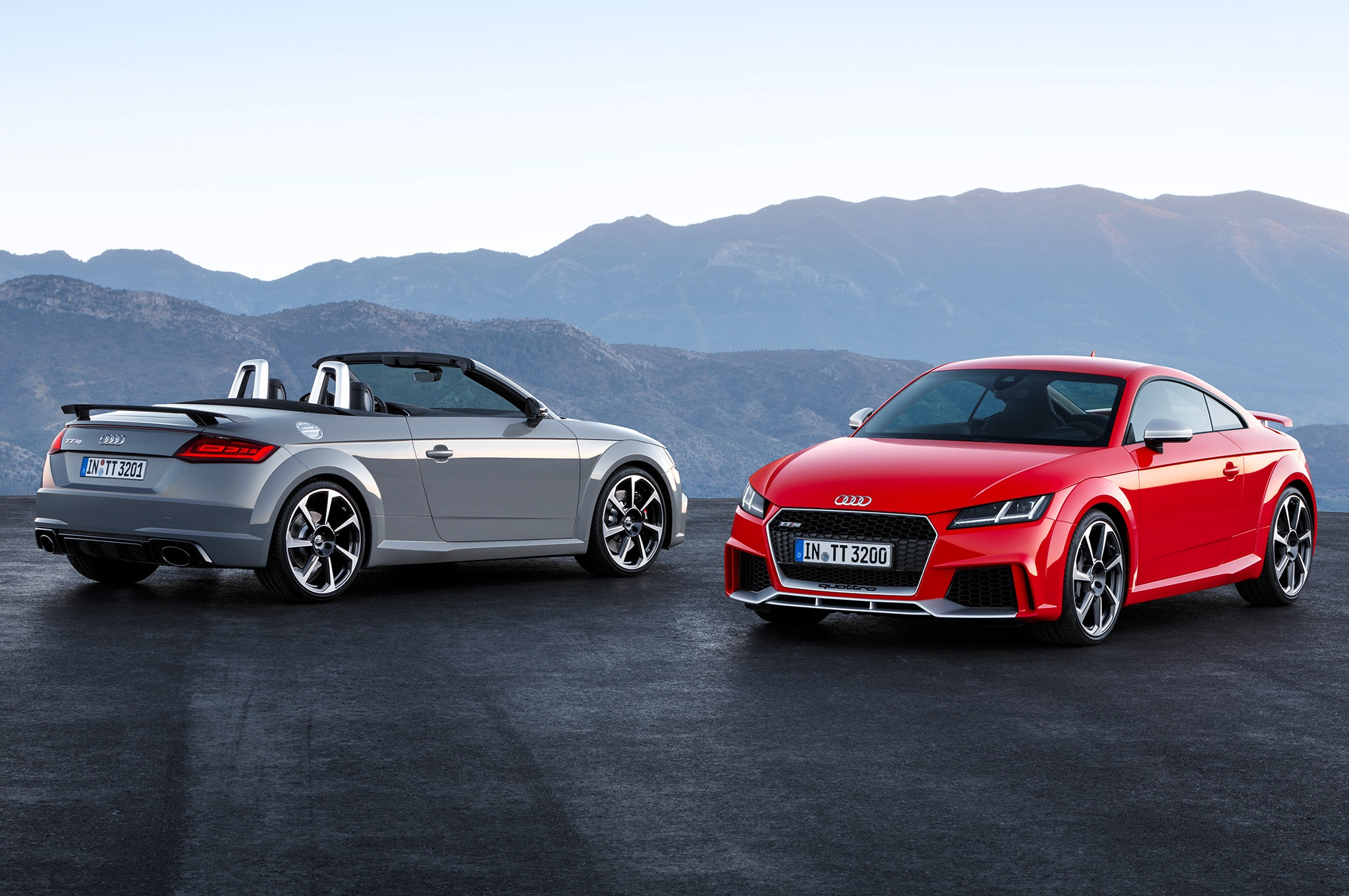 Audi TT RS coupe and convertible pair