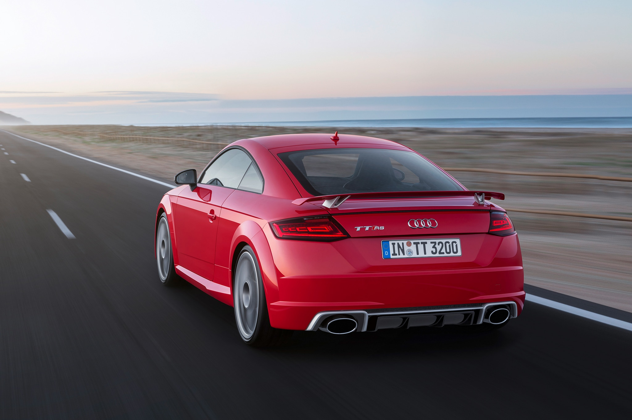 audi tt rs coupe, convertible charge into beijing with 394 hp
