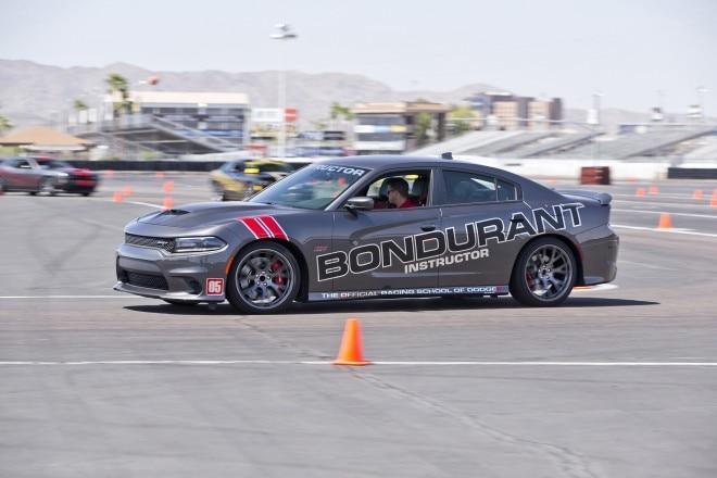 Dodge Charger SRT Hellcat at Bondurant School front three quarter in motion