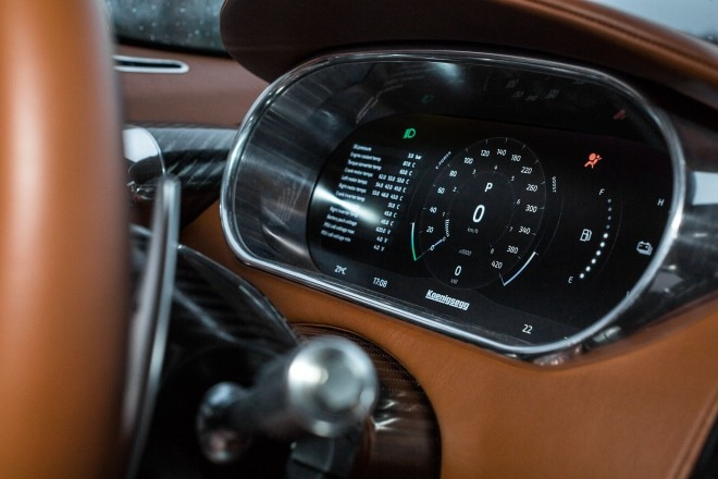 Koenigsegg Regera prototype digital instrument panel