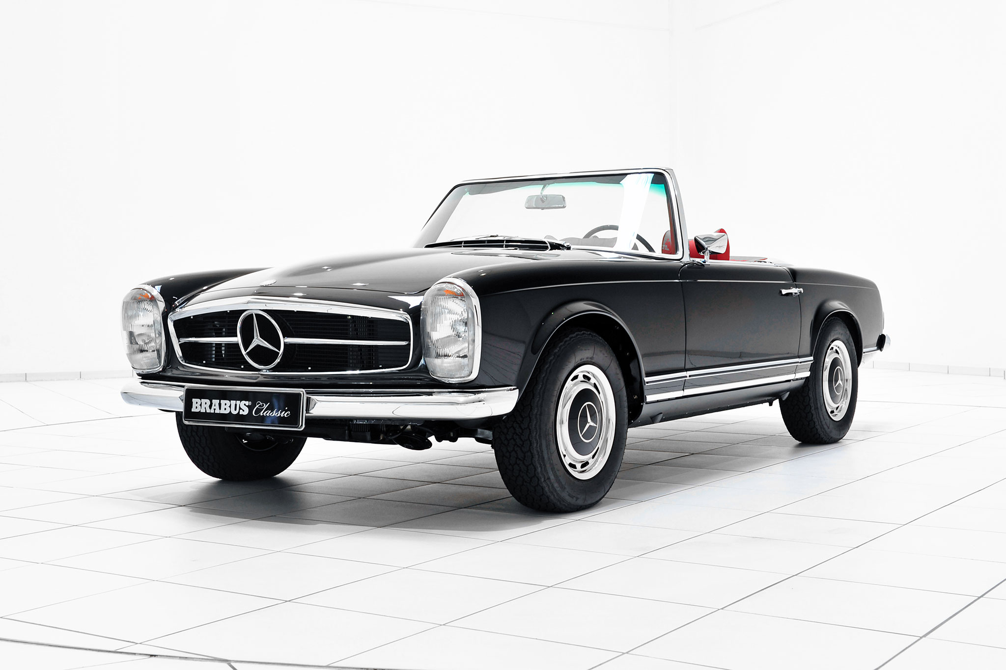 Brabus promotes classic services with restored mercedes for Mercedes benz usa factory