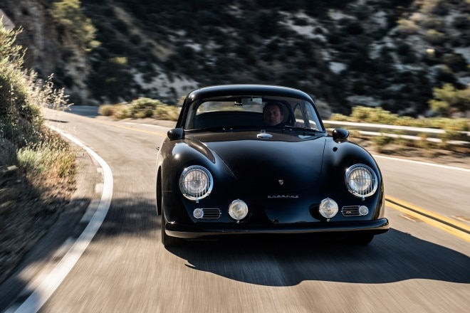 1958 Porsche 356 Emory Special Coupe Front View In Motion 01 660x440