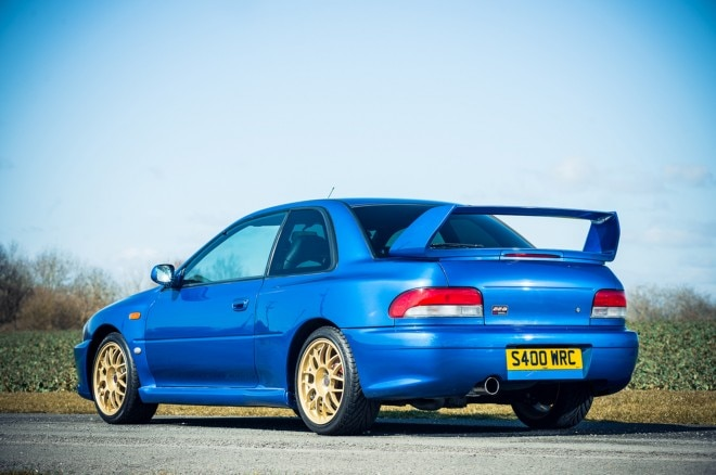 1998 Subaru Impreza STI 22B rear three quarters