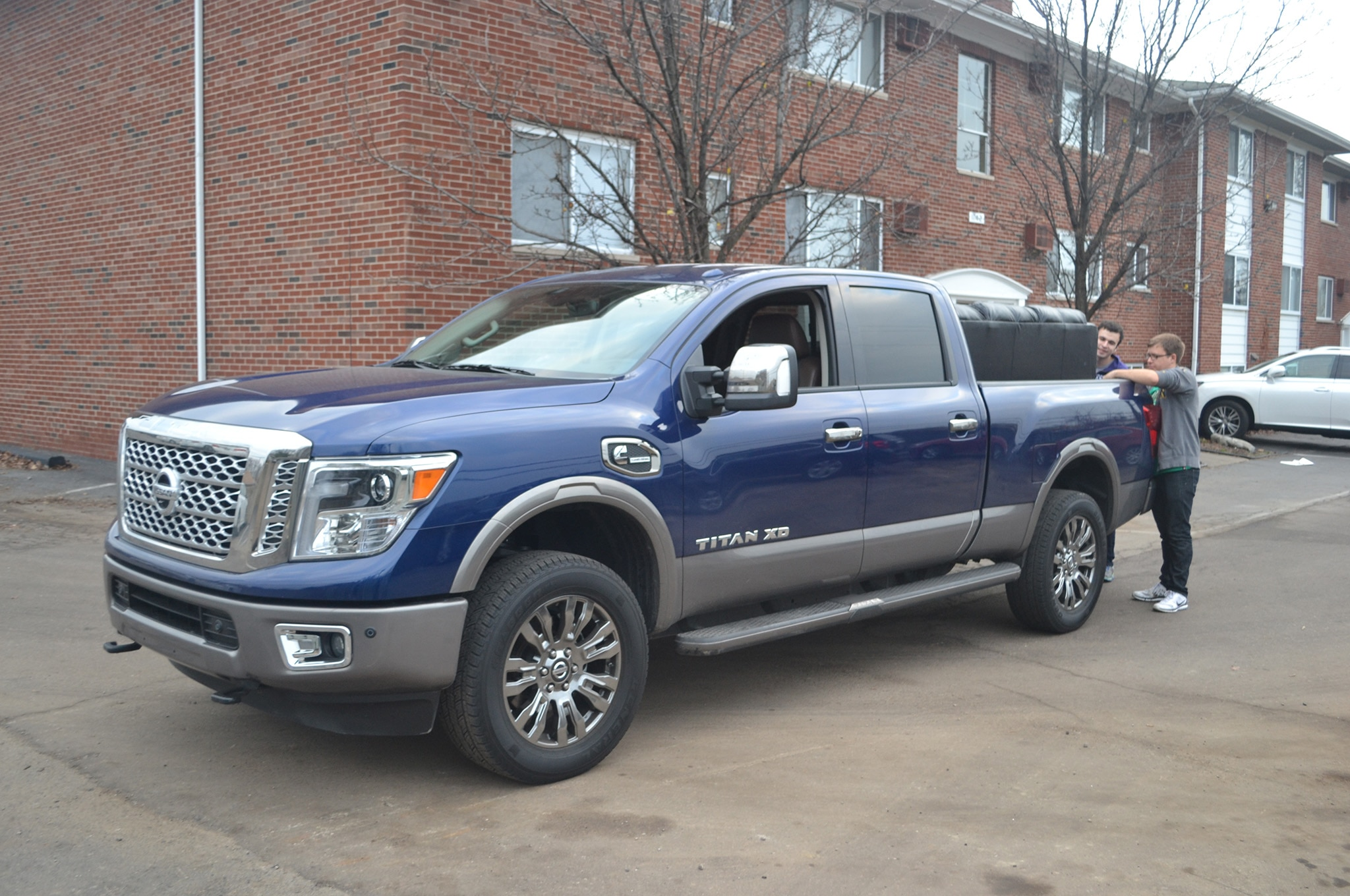 2016 Nissan Titan XD Platinum Reserve Moving Front Three Quarters