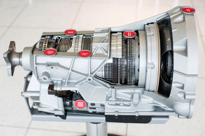2017 Ford F 150 10 speed transmission close up