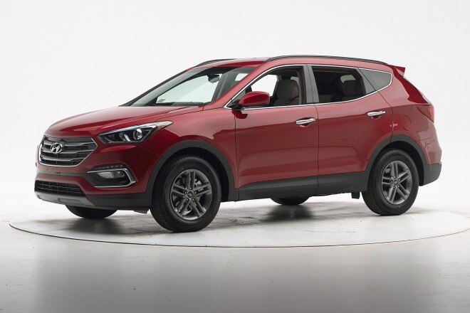 2017 hyundai santa fe sport iihs testing. Black Bedroom Furniture Sets. Home Design Ideas