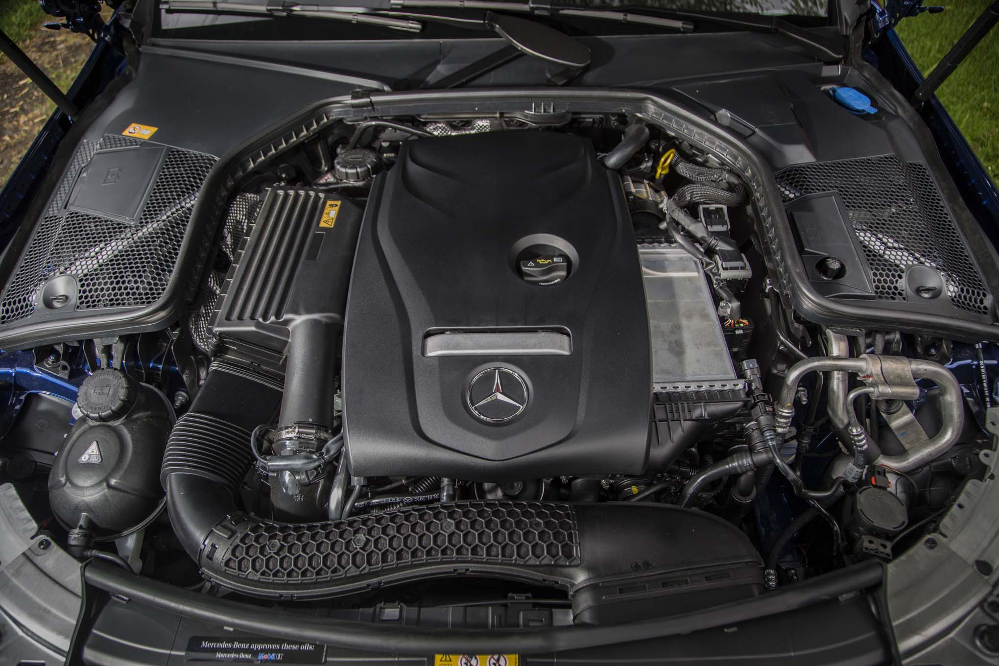 2017 mercedes benz c300 coupe first drive review for Engine for mercedes benz