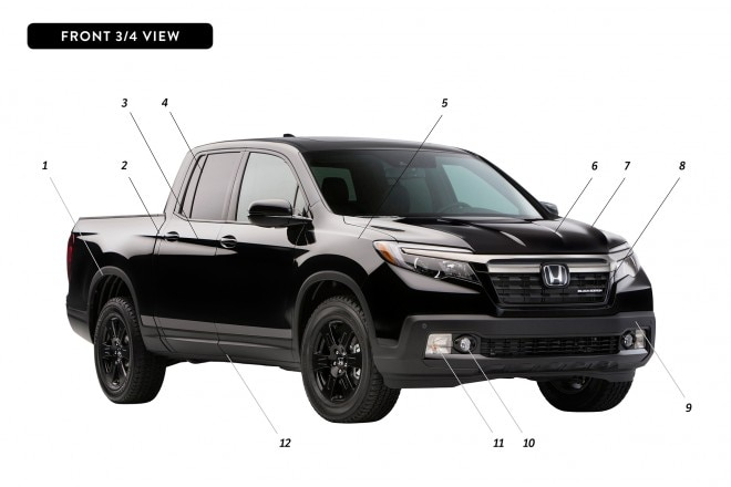 By Design Honda Ridgeline front three quarter