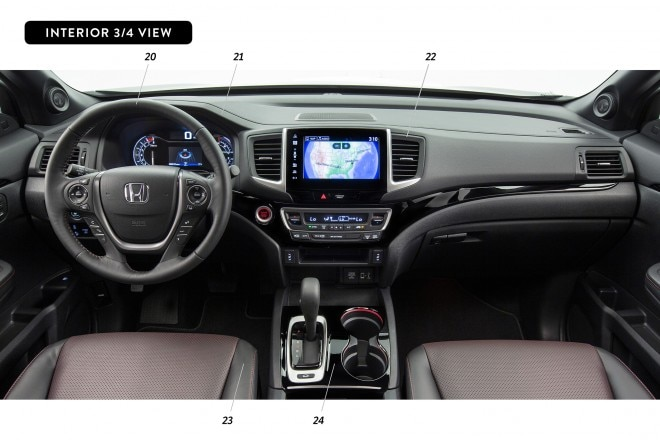 By Design Honda Ridgeline interior