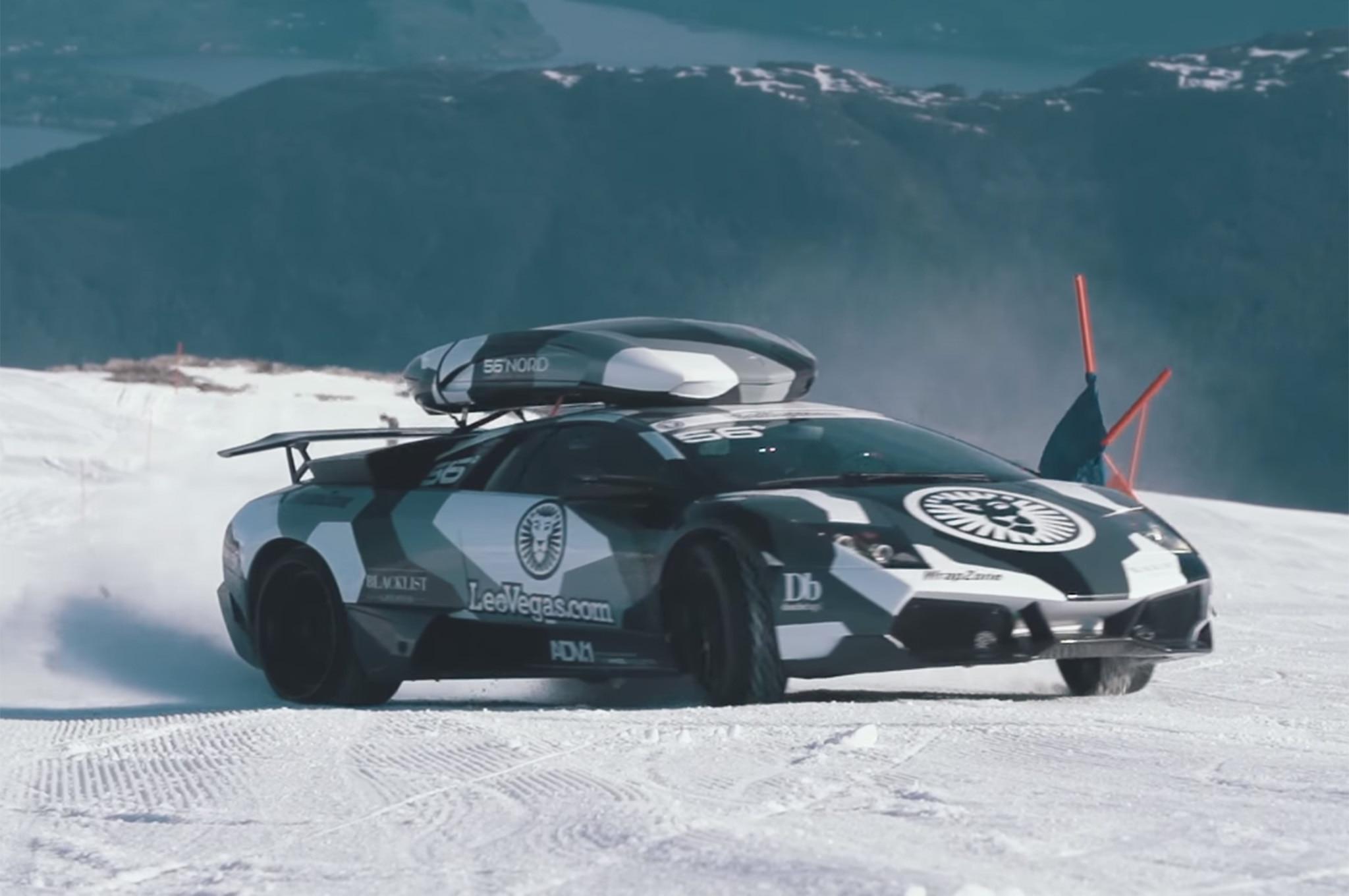 Watch Jon Olsson Climb A Glacier In A Lamborghini