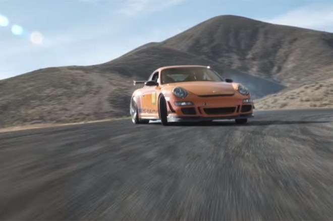 the beauty of a porsche 911 gt3 rs drifting on a track video. Black Bedroom Furniture Sets. Home Design Ideas