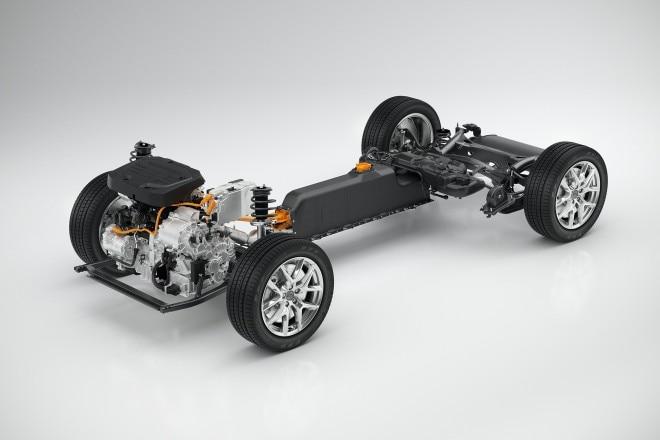 Volvo CMA with T5 Twin Engine powertrain 3 4 view