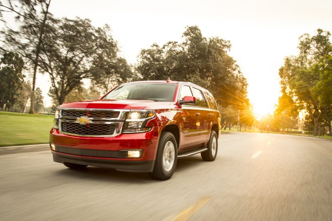 2015 Chevrolet Tahoe LT Front Three Quarter In Motion 04 660x440
