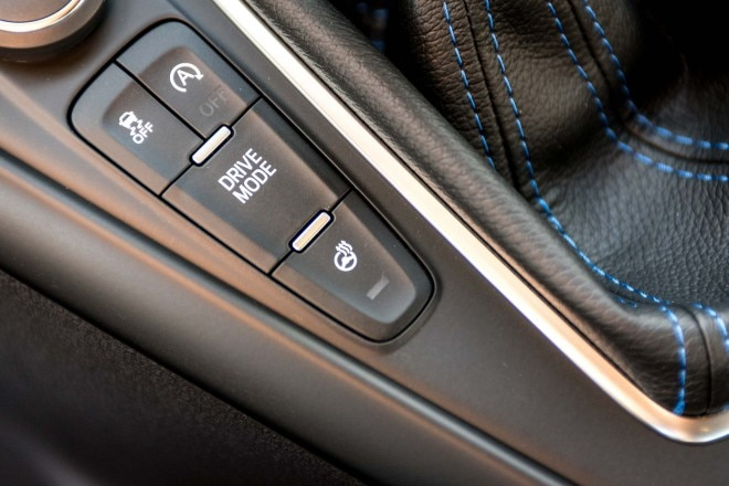 2016 Ford Focus RS drive mode setting button