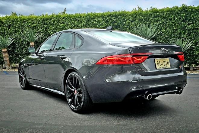 2016 Jaguar XF S rear three quarter