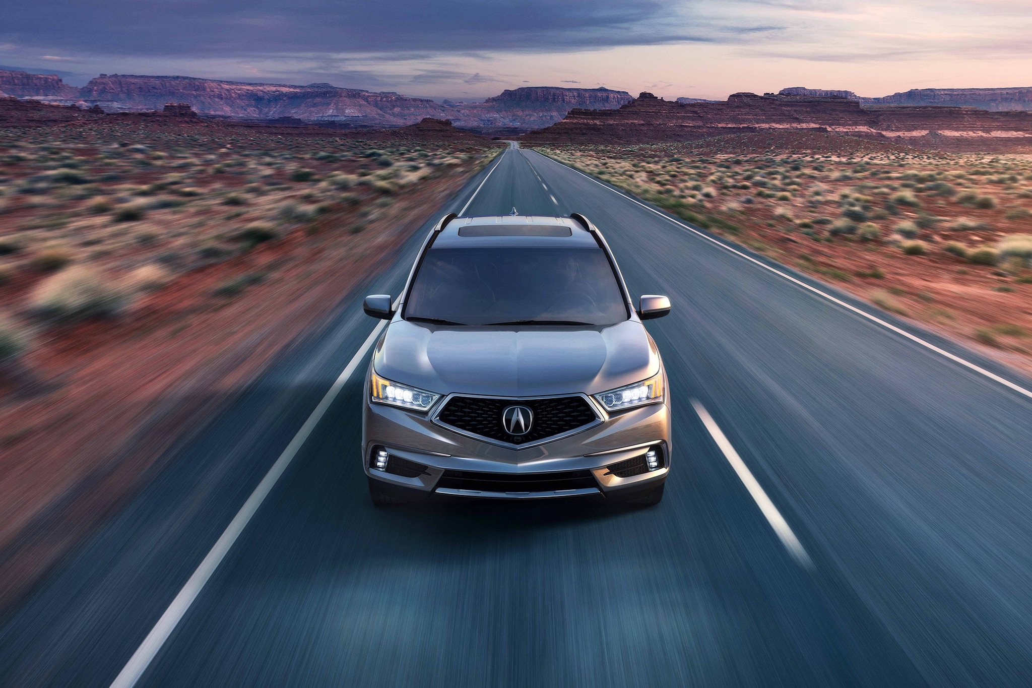 2017 Acura MDX Front View In Motion