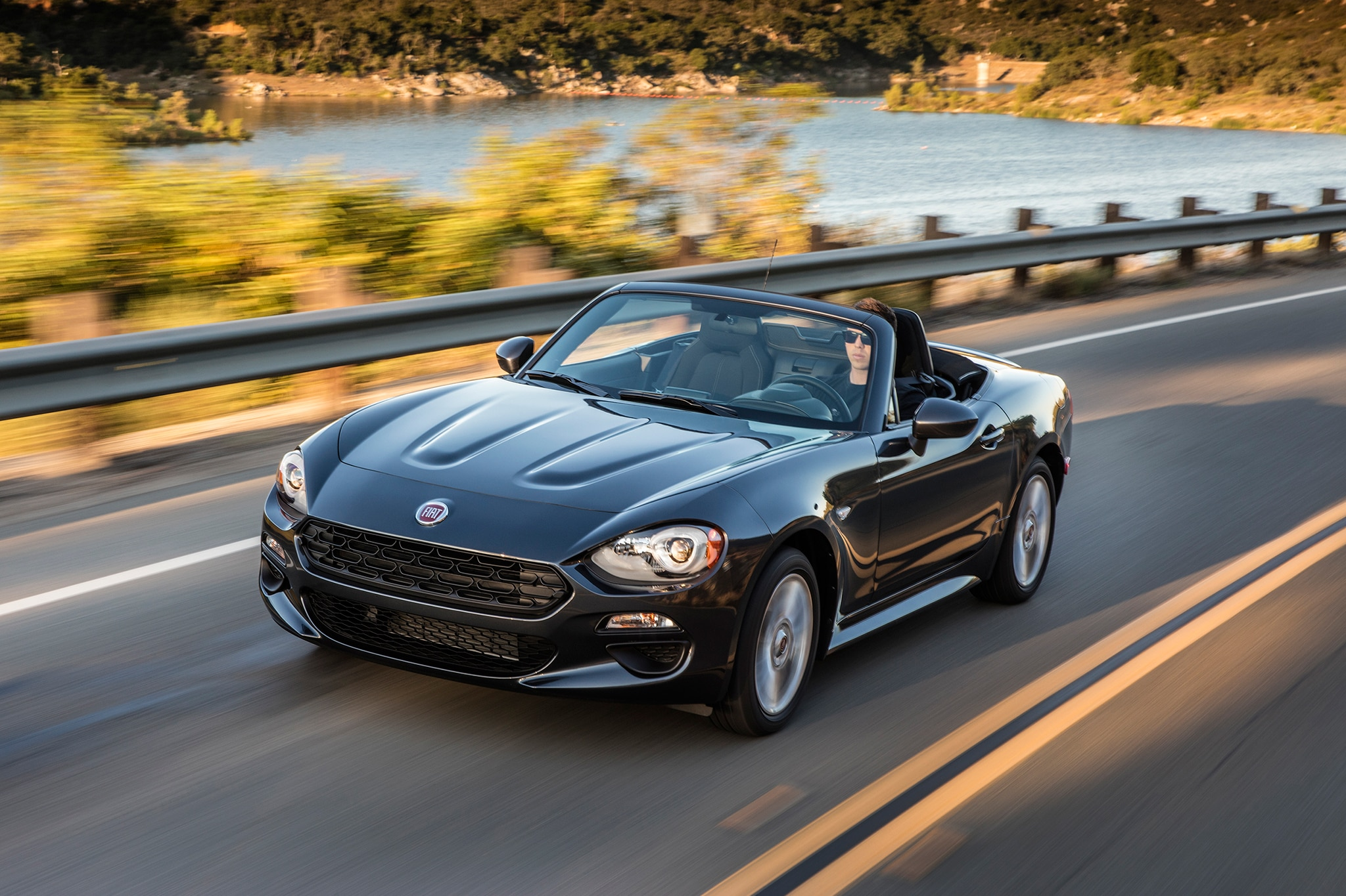 2017 fiat 124 spider classica front three quarter in motion 02 automobile. Black Bedroom Furniture Sets. Home Design Ideas