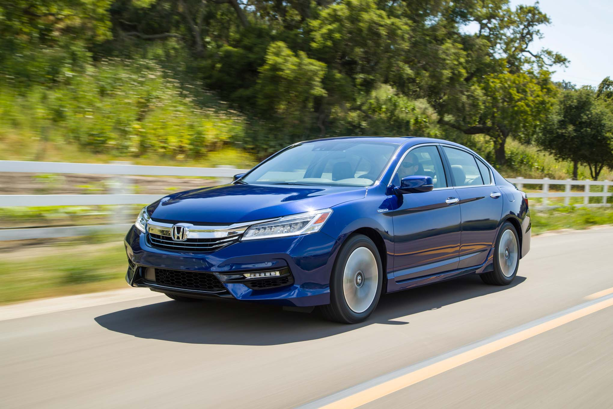 2017 Honda Accord Hybrid Front Three Quarter In Motion