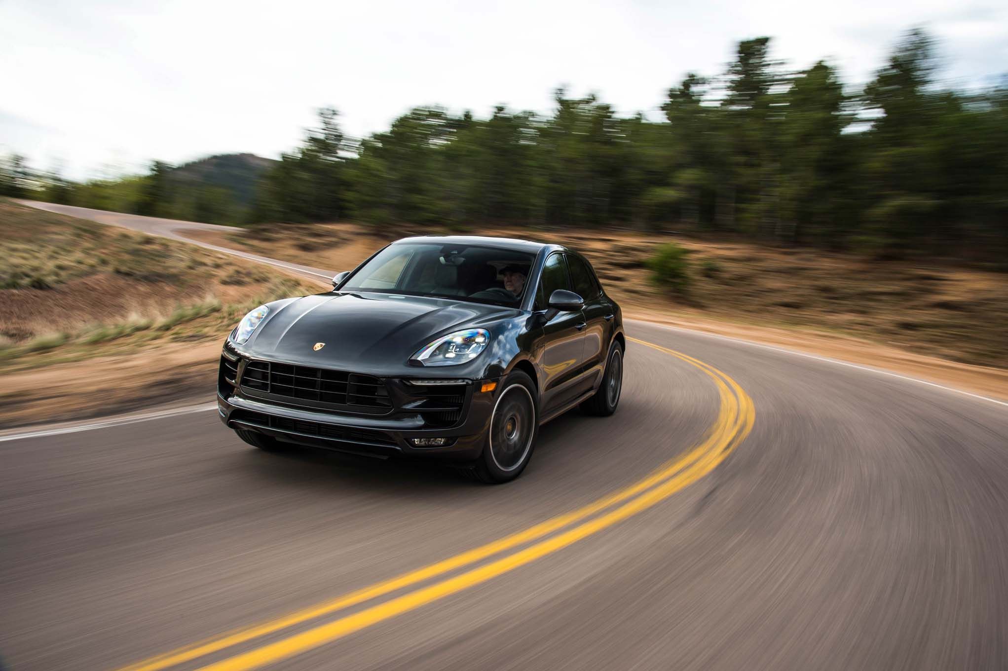 2017 Porsche Macan GTS Front Three Quarter In Motion 05