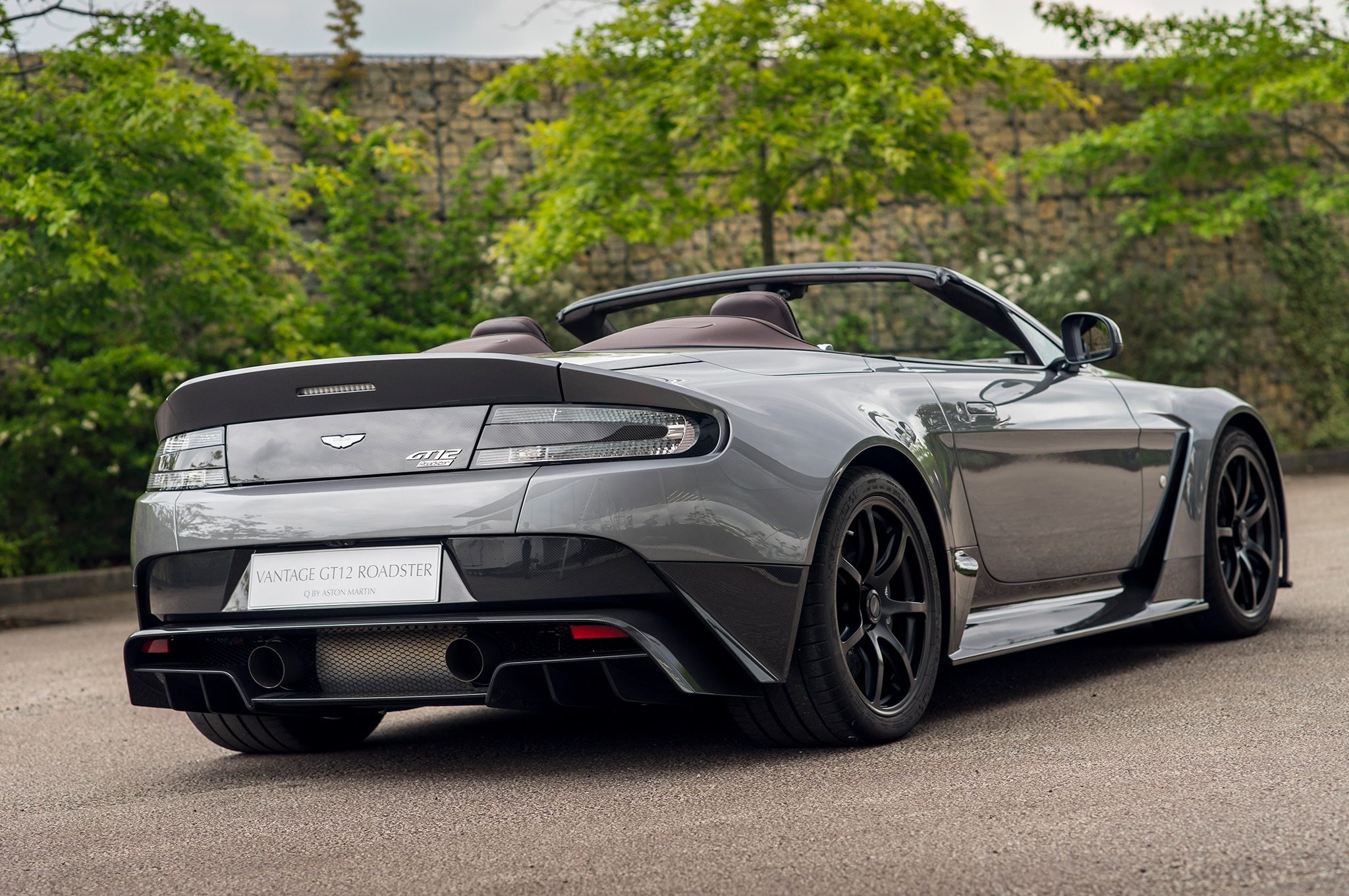 the one off aston martin vantage gt12 roadster is delightfully brutal automobile magazine. Black Bedroom Furniture Sets. Home Design Ideas