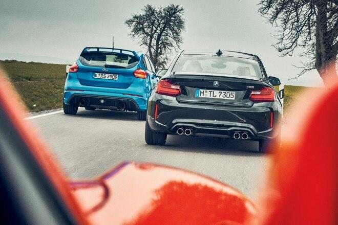 BMW M2 vs Ford Focus RS vs Porsche 718 Boxster S 04