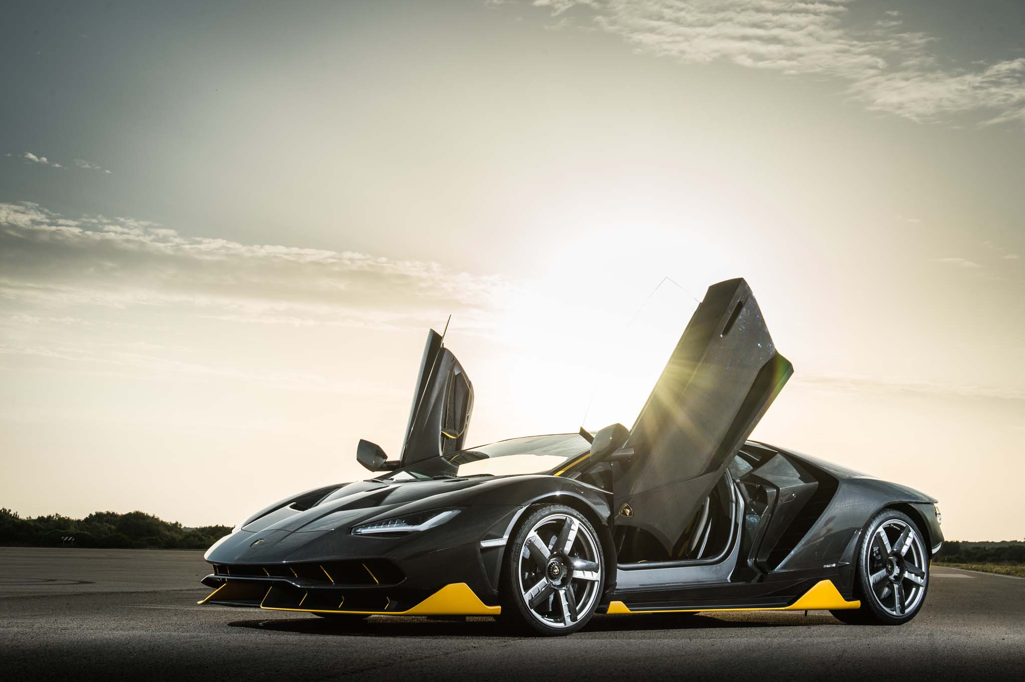 Lamborghini Centenario LP 770 4 Front Three Quarter Doors Open