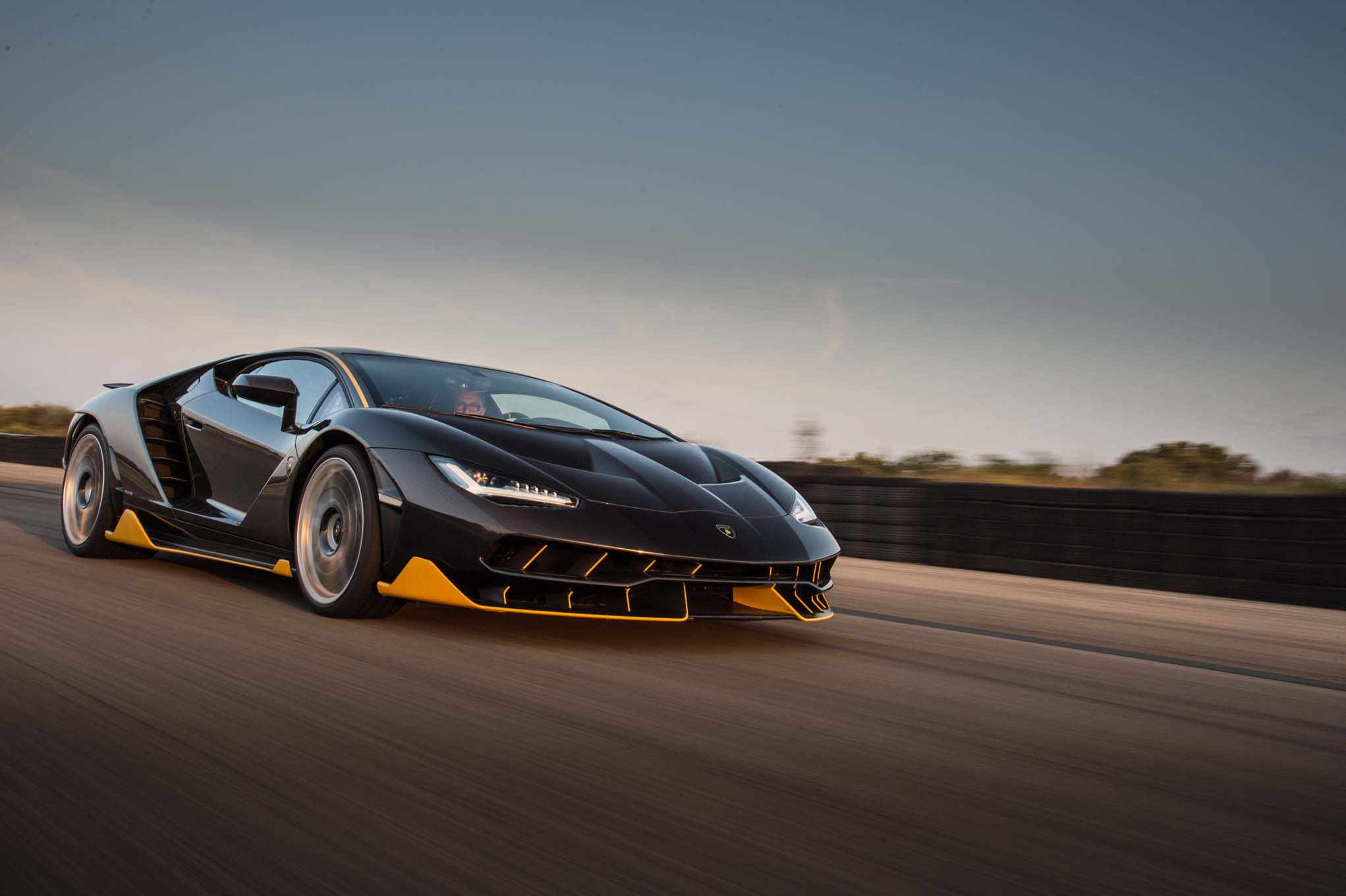 Lamborghini Centenario LP 770 4 front three quarter in motion 25