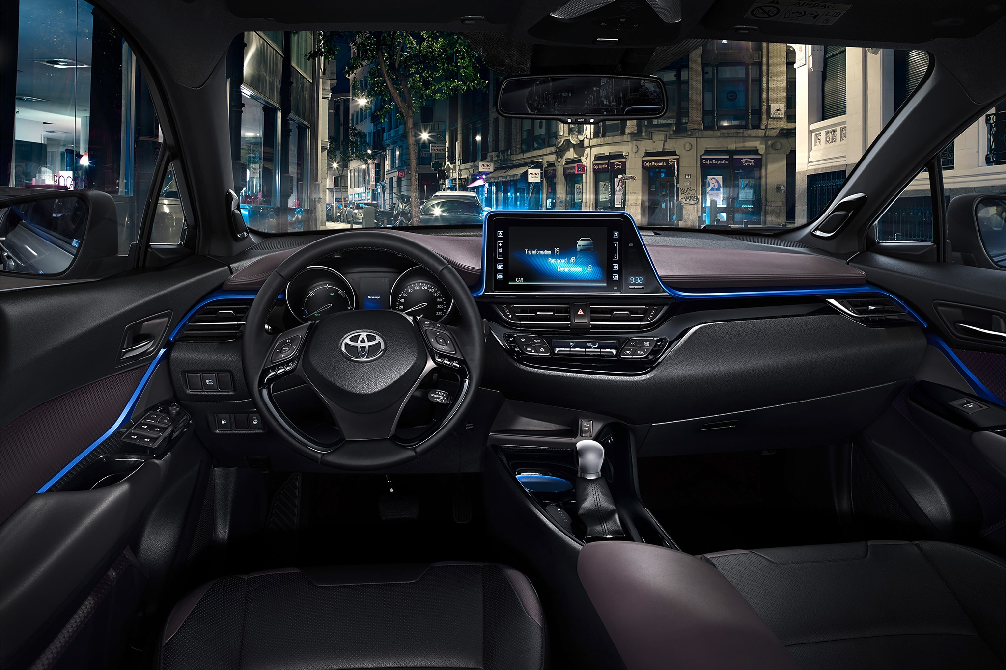 Toyota C HR European spec interior cabin