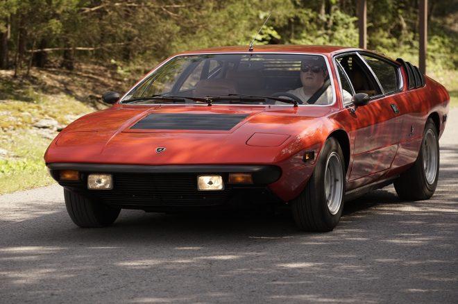 1976 Lamborghini Urraco P300 Lane Motor Museum in motion 2