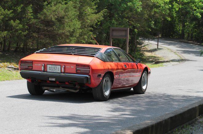 1976 Lamborghini Urraco P300 Lane Motor Museum rear