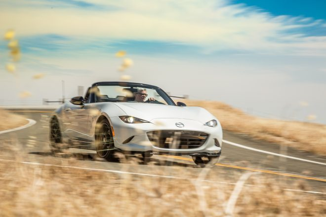 2016 Mazda MX 5 Miata Club front three quarter in motion 04