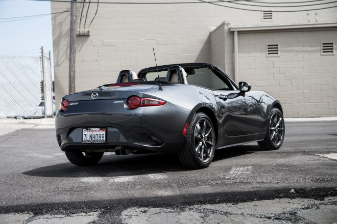 2016 Mazda MX 5 Miata Grand Touring rear three quarter 01