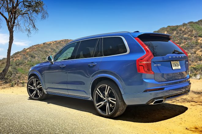 2016 Volvo XC90 R Design rear three quarters