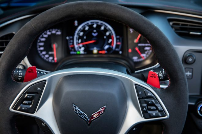2017 Chevrolet Corvette Grand Sport paddle shifters