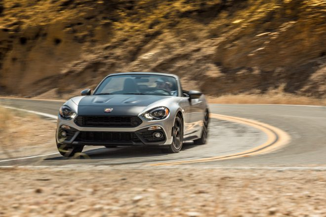 2017 Fiat 124 Spider Elaborazione Abarth front view in motion