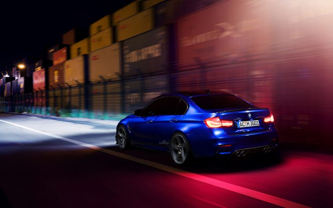 BMW M3 by AC Schnitzer rear three quarter in motion