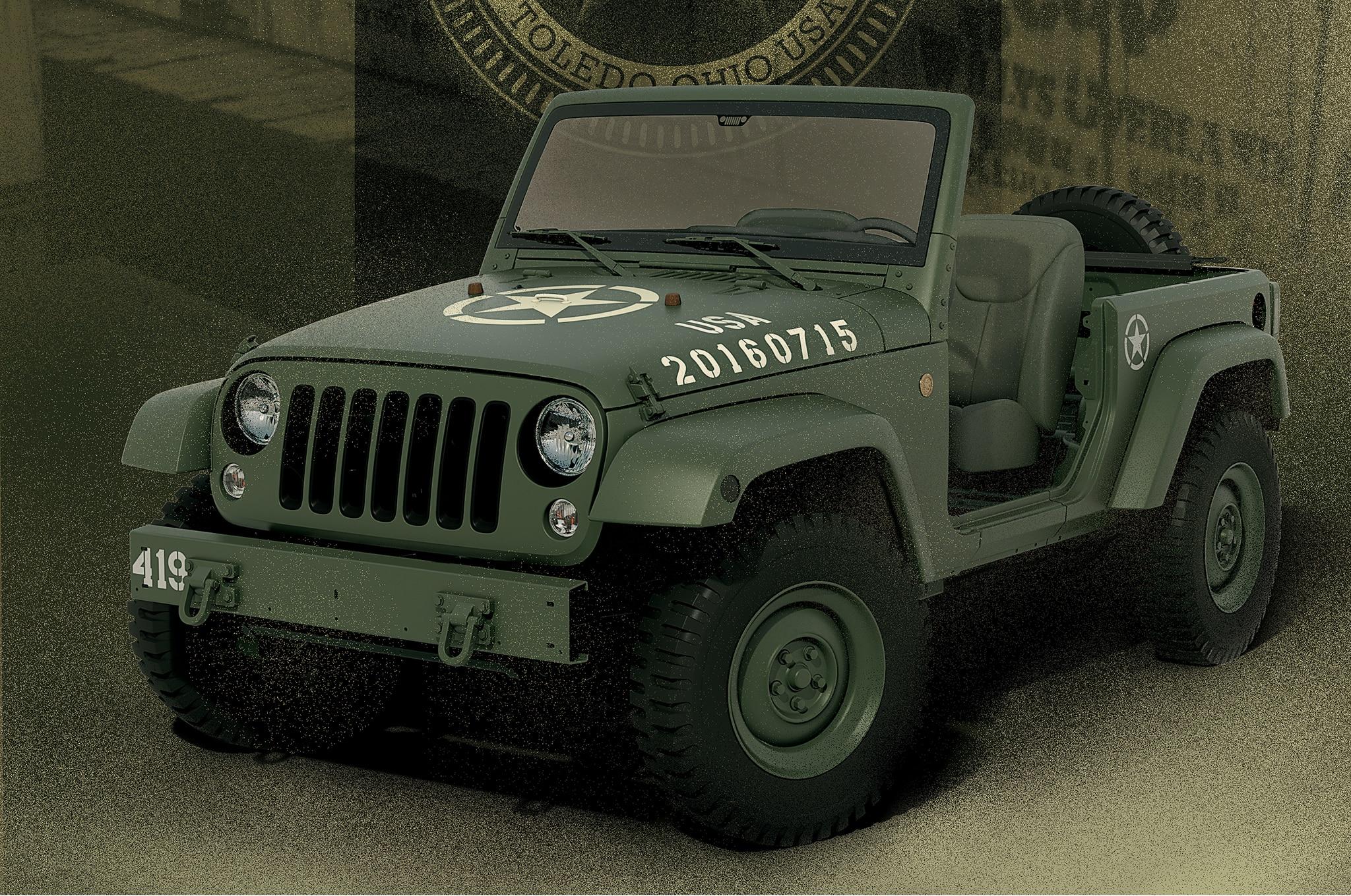 Jeep Wrangler 75th Annivesary salute concept