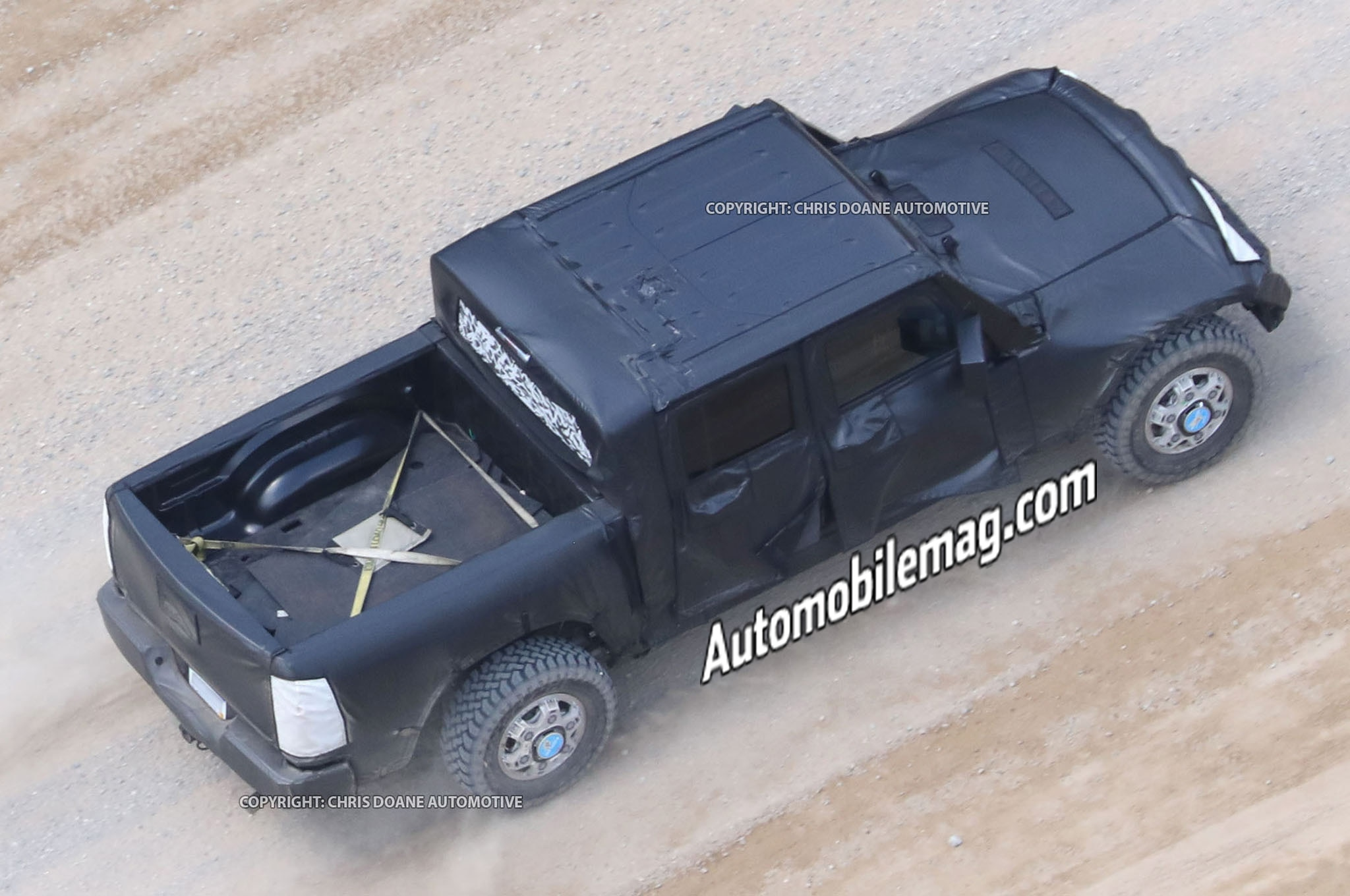 Jeep Wrangler Pickup Caught Testing in New Photos | Automobile ...