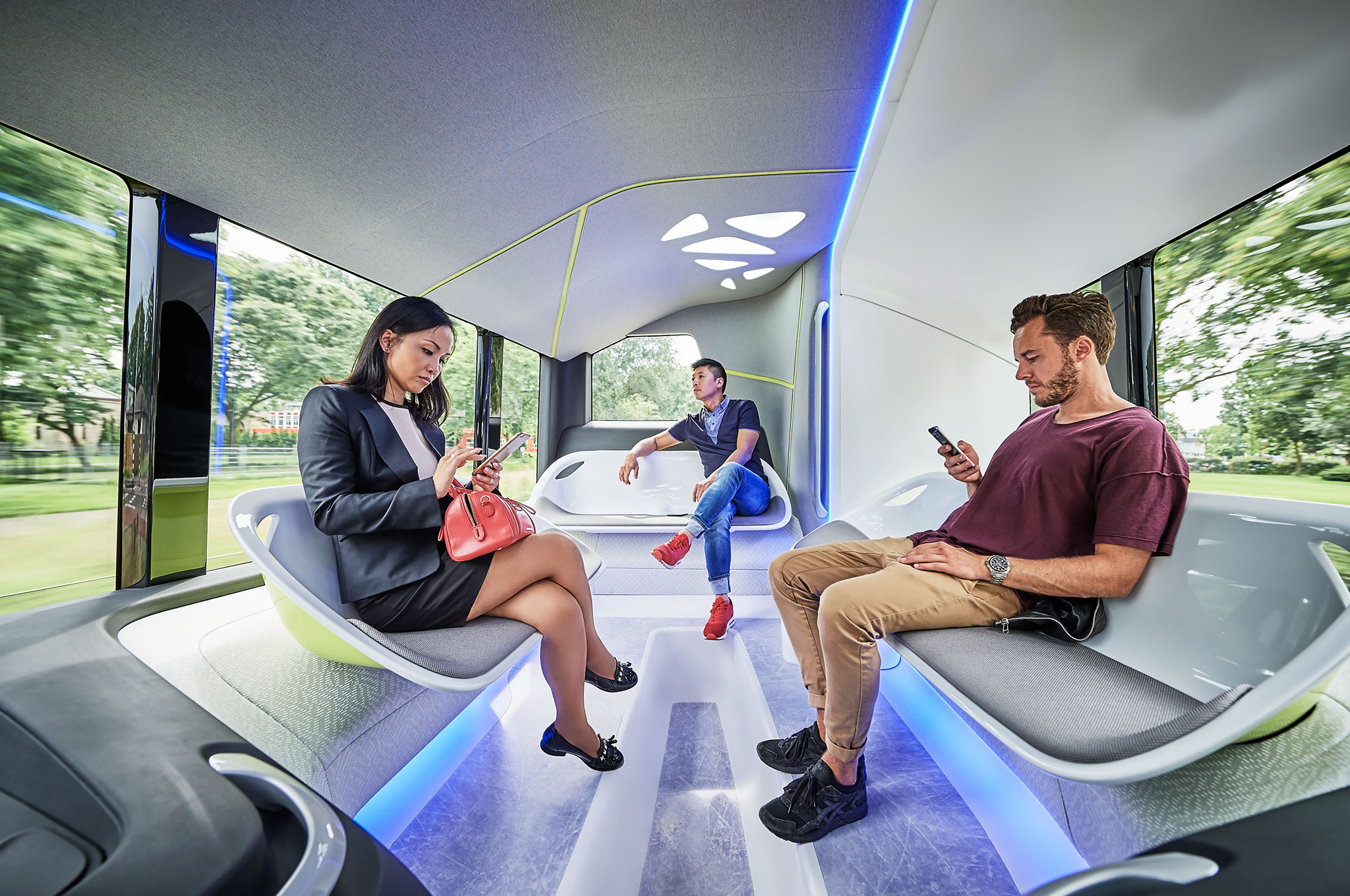Mercedes Benz Future Bus with CityPilot interior