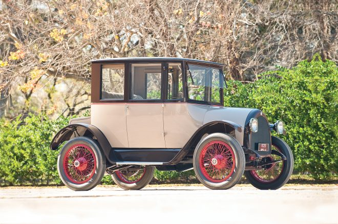 1920 Detroit Electric Model 82 Brougham RM Sothebys front three quarters