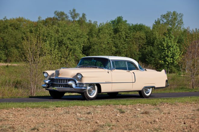 1955 Cadillac Series 62 Coupe de Ville RM Sothebys front three quarters