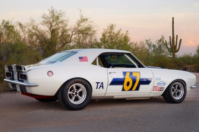 1968 Chevrolet Camaro Trans Am Racer rear three quarter