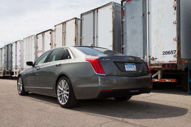 2016 Cadillac CT6 2 0T rear three quarter 02