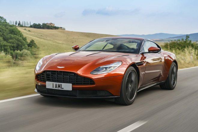 2017 Aston Martin DB11 front three quarter in motion 02 4