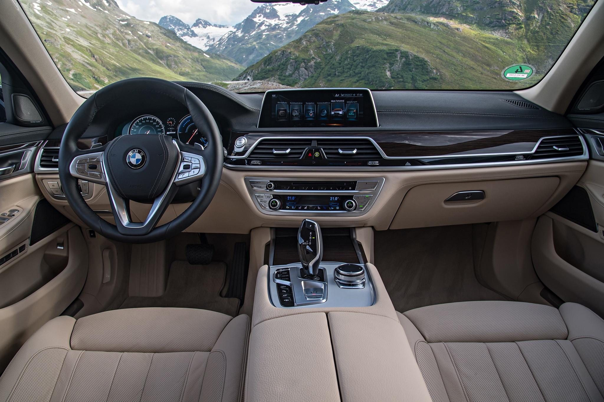 2017 BMW 740e xDrive iPerformance plug in hybrid cabin 01