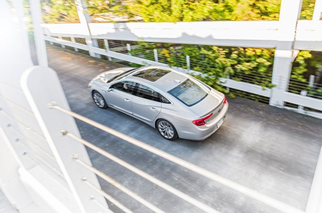 2017 Buick LaCrosse top view in motion