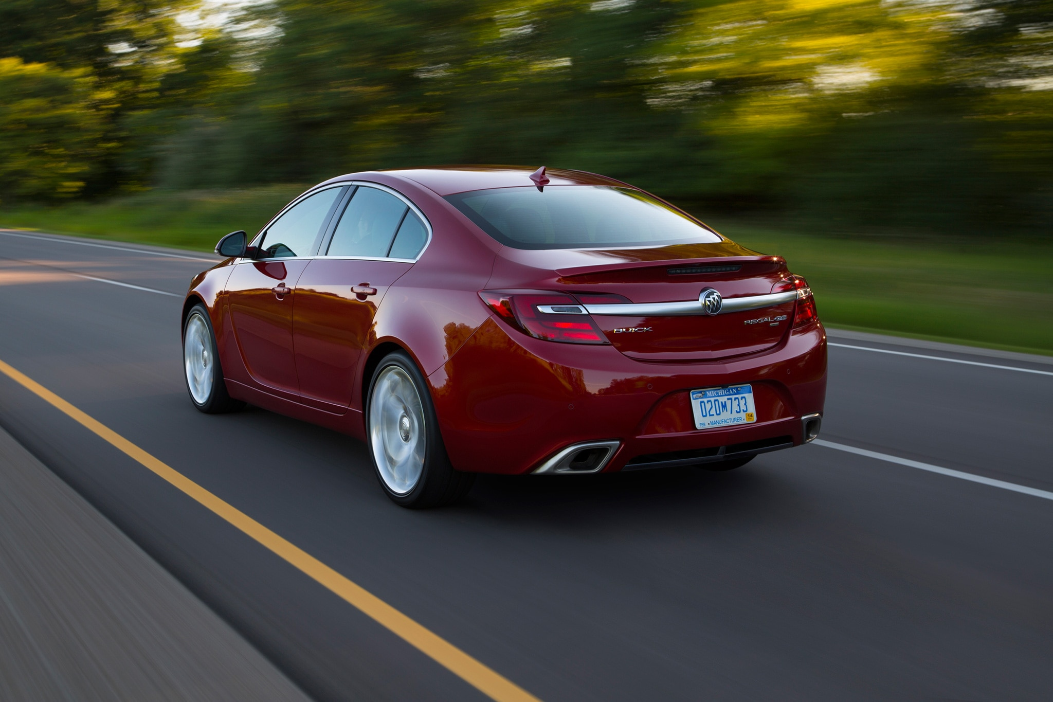 2017 Buick Regal GS Rear Three Quarter In Motion