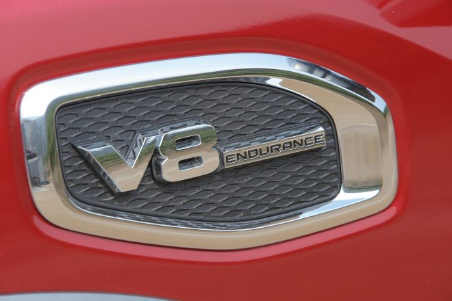 2017 Nissan Titan badge