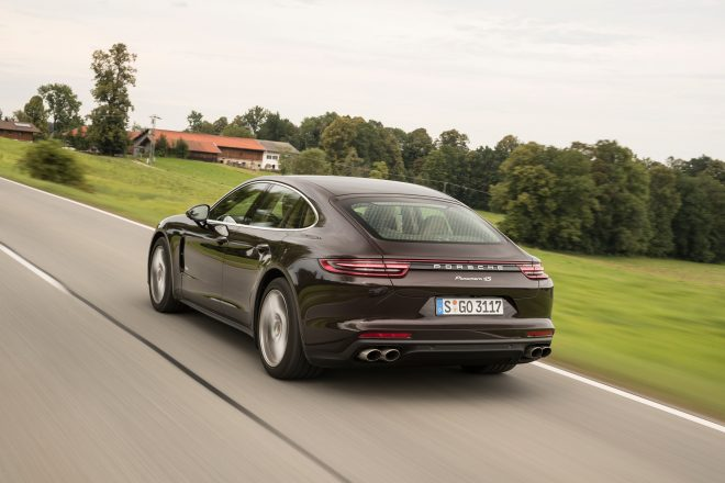 2017 Porsche Panamera 4S Rear Three Quarter 3